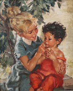 Paintings, Illustrations, Children, Art, Young Children, Art Background, Boys, Paint, Painting Art