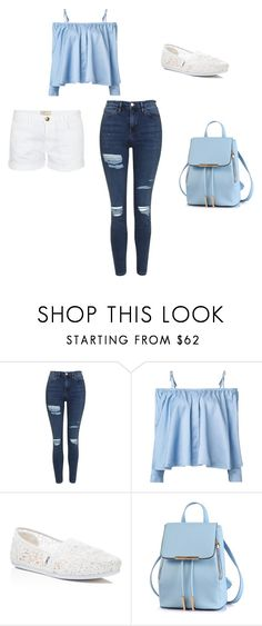 Sea Breeze by adreannagibson on Polyvore featuring Sandy Liang, Topshop, Current/Elliott and TOMS
