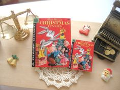 dollhouse comic christmas bugs bunny vintage inspired 12th scale or playscale lakeland artist by Rainbowminiatures on Etsy