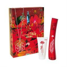 KENZO Flower Tag 2pc Women Perfume Set 50ml EDP + 50ml Body Milk - Promotional Offers- - TopBuy.com.au