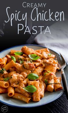 This creamy spicy chcicken pasta dish, makes the perfect easy mid-week dinner. Taking a classic tomato sauce, adding some red pepper flakes and a touc. Creamy Pasta Recipes, Pasta Sauce Recipes, Spicy Recipes, Cooking Recipes, Creamy Tomato Pasta Sauce, Creamy Pasta Dishes, Pasta With Red Sauce, Simple Pasta Recipes, Red Sauce Pasta Recipe