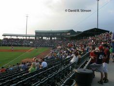 Baseball Stadiums. Baseball Ballparks. Joseph P. Riley, Jr. Park, Charleston, South Carolina. Home of the Charleston River Dogs.