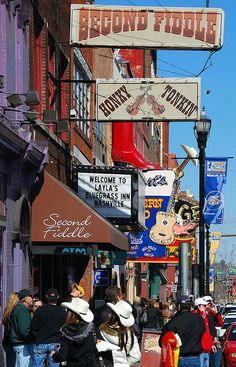 Music Row: Nashville. Every country singer feels at home here. Love this place.