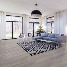 Living Room Laminate Flooring | Discount Flooring Depot Laminate Flooring, White Walls Living Room, Accent Walls In Living Room, Grey Laminate Flooring, Laminate, Living Room Grey, Room, White Walls, Grey Dining Room