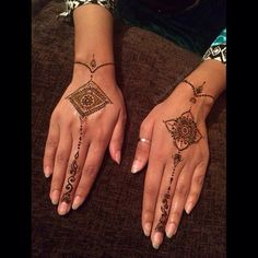 Engagement henna for a lovely client who wanted something detailed but dainty. I love how this turned out! She has the perfect hands to pull this off. This took 3+ hours  10% henna 90% banter loool