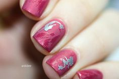 Simple and fun manicure by @anikibee using our Mermaid Nail Decals found at snailvinyls.com