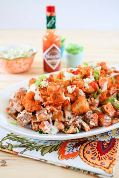 The Noshery | Buffalo Chicken and Sweet Potato Salad | http://thenoshery.com