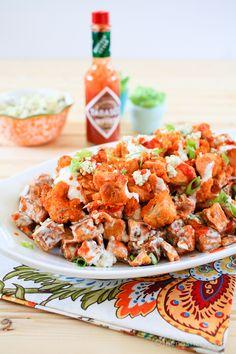 The Noshery | Buffalo Chicken and Sweet Potato Salad | http://thenoshery.com