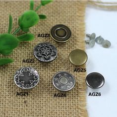 Click Our Letters Rivets Gallery to See More Style and Color . Jeans Button, Make Color, Shake, Cufflinks, Giant Tree, Buttons, Jewelry, Smoothie, Jewlery