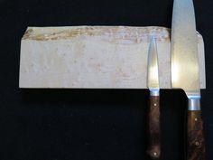 Magnetic knife holder knife rack 12 Birdseye Maple by EEKnives Magnetic Knife Holder, Magnetic Knife Strip, Birdseye Maple, Rare Earth Magnets, Wooden Spoons, Knife Block, Food Grade, A Food, Woodworking