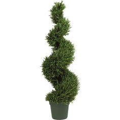 Nearly Natural Indoor/ Outdoor Silk Rosemary Spiral Tree, Green (Plastic)