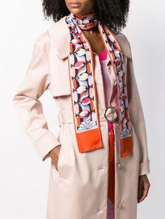 Emilio Pucci Long Patterned Scarf - Farfetch Emilio Pucci, Accessories Shop, Duster Coat, Jackets, Shopping, Women, Fashion, Down Jackets, Moda