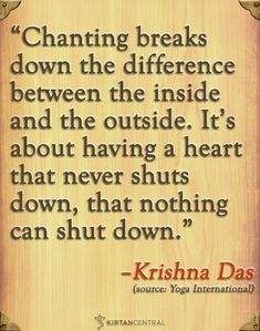 Kriyas and mantra are so incredibly healing to me. Krishna Das on chanting & the heart. www.kirtancentral.com
