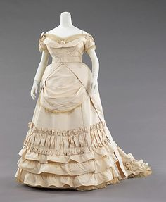 1872- Attributed to House of Worth   Ball  gown   probably French   The Met
