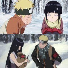 Me encanta la forma como Naruto observa a Hinata