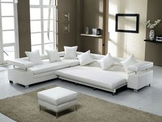 Sofa: White And Grey Sectional Sleeper Sofa Plus Purple Cushions Elegant Living Room Lamps Brown And White Curtains For Small Dining Room White Carpet Above Laminated Wood Flooring from Three Sofas With The Label of Sleeper Sofa