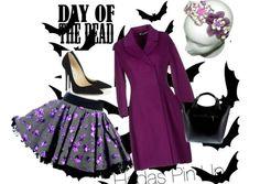 Para ir elegante en la época de Halloween os proponemos este look con falda de hell bunny y diadema catrinas disponible en www.hadaspinup.com #pinup #años50