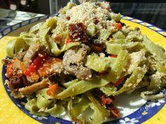 Vegspiration - Blog de inspiración vegana: Pasta con champiñones, tomates secos y parmesano vegano