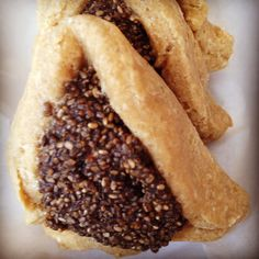 Debbie Adler's #glutenfree, #vegan, #sugarfree Chia Superjam Hamantaschen. http://sweetdebbiesorganiccupcakes.com/chia-superjam-hamantaschen/