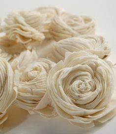 tapioca/balsa wood flowers.... pretty positive these will be all over at my wedding :)