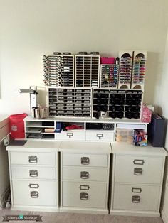 July Studio Showcase: Carole W - Stamp-n-Storage...love the critical thinking used in organizing.  Also, love that there are products that facilitate organization in this manner.