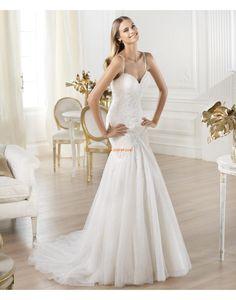 Frühling 3/4 Arm Empire Brautkleider 2014