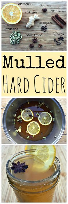 Make some hot and spiced mulled hard cider for the holidays!