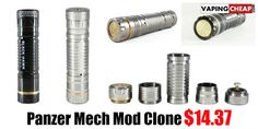 Panzer Mech Mod Clone - $14.37 - http://vapingcheap.com/panzer-mech-mod-clone-24/