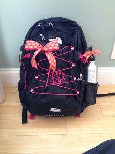 Monogramed North Face Backpack!