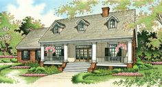 Colonial Country Southern House Plan 65622