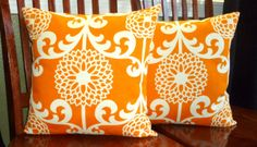 Distinctive Decorative Throw Pillow Covers  Two Orange by berly731, $34.00