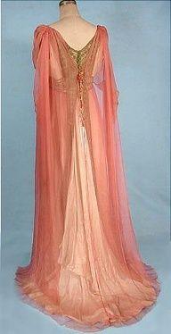 pink gossamer silk chiffon gown - Google Search