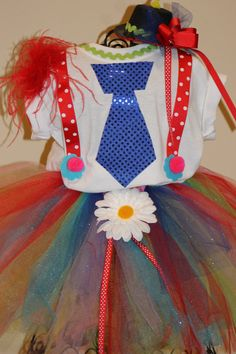 Custom Clown Circus Tutu Pageant Party Rainbow por GirlyInspired, $45,00