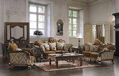 Antioch Formal Living Room Sofa Set, European Victorian Style, Free Ship!