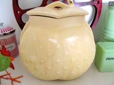 HTF 1940s McCoy Hobnail Heart Cookie Jar, Wonderful Vintage Condition