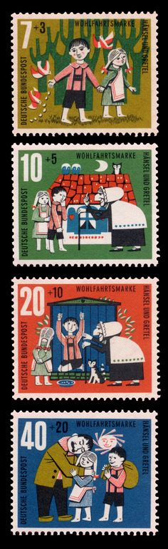 hansel and gretel stamp germany