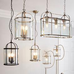 Lantern Ceiling Lights, Lantern Pendant Lighting, 3 Light Pendant, Pendant Lights, Ceiling Light Fittings, Lantern Designs, Glass Floor, Hanging Lanterns, Glass Material