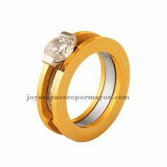 stainless steel diamond wedding ring for women-SSRGG831355