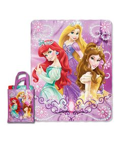 Look what I found on #zulily! Glitter Princesses Throw & Reusable Tote by  #zulilyfinds