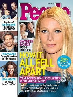 ON NEWSSTANDS 4/5/14: Gwyneth Paltrow and Chris Martin's Marriage Was 'Falling Apart,' Says Source. Plus: New pics of Prince George and more