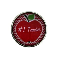S-1103 #1 Teacher Snap 20mm for Ginger Snap-Noosa Snap-Chunk Snap Charm Jewelry by SimpleEleganceCole on Etsy