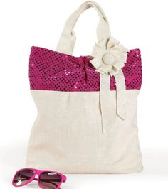 Love a little sparkle? Check out this free tote project!