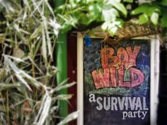 Greatfun4kids: Boy vs Wild - A Survival Party (adventure party) (based on Bear Grylls, Man vs Wild)