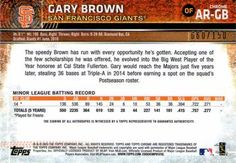 2015 Topps Chrome - Autographed Rookies Blue Refractors #AR-GB Gary Brown Back