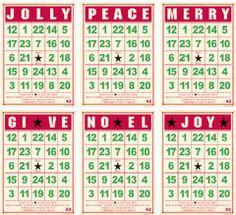 holiday bingo cards