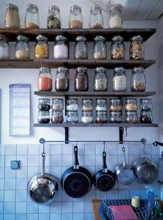 efficient and comfy spice storage in the kitchen