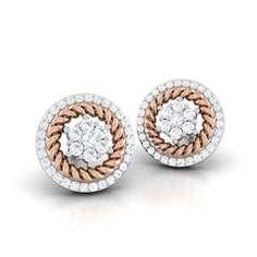 Squirm Round Diamond Earring