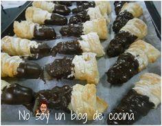 NO SOY UN BLOG DE COCINA→ Recetas paso a paso con imágenes: CARACOLAS CUBIERTAS DE CHOCOLATE
