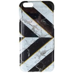 Jordan Carlyle The Departed iPhone 6 Case ($19) ❤ liked on Polyvore featuring accessories, tech accessories and black marble