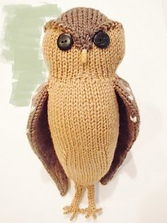 knitted toy owl free pattern ravelry.com